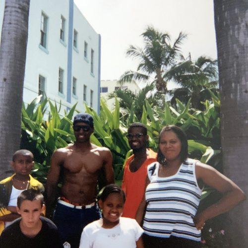 Dozia with students in Miami